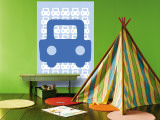 Blue Auto Wall Mural by Avalisa