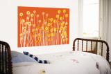 Orange Wild Flowers reproduction murale géante par  Avalisa