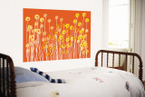 Orange Wild Flowers Wall Mural by  Avalisa