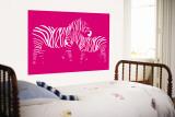 Pink Zebra reproduction murale géante par  Avalisa