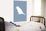 Blue Bird Silhouette Wall Mural by  Avalisa