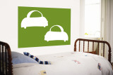 Green Cabs Wall Mural by  Avalisa