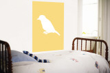 Yellow Bird Silhouette Wall Mural by  Avalisa
