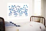 Blue Wildflowers Wall Mural by  Avalisa