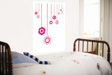 Pink Hanging Flowers Wall Mural by Avalisa