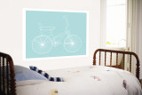 Sea Green Bike Wall Mural by  Avalisa