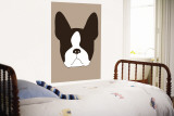 Brown Boston Terrier Wall Mural by  Avalisa