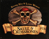 Skull &amp; Crossbones Tin Sign