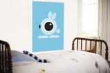 Blue Bunny Eye Wall Mural by  Avalisa