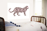 Pink Jaguar Wall Mural by Avalisa