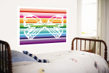 Sunset Butterfly Wall Mural by  Avalisa