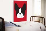 Red Boston Terrier Vægplakat af  Avalisa