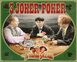 The Three Stooges - 3 Joker Poker Cartel de chapa