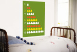 Green Counting Pears Wall Mural by Avalisa 