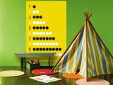 Yellow Counting Apples Wall Mural by  Avalisa