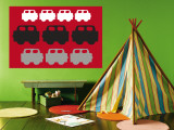 Red Cars Reproduction murale par  Avalisa