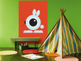 Orange Bunny Eye Wall Mural by  Avalisa