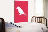 Pink Bird Silhouette Wall Mural by  Avalisa