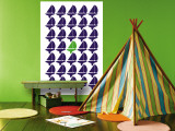 Navy Green Regatta Wall Mural by  Avalisa