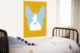 Orange Boston Terrier Wall Mural by  Avalisa