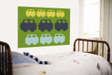 Green Cars Wall Mural by Avalisa 