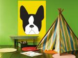 Yellow Boston Terrier Malowidło ścienne autor Avalisa