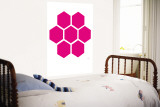 Pink Honeycomb Wall Mural by Avalisa
