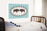 Sea Green Buffalo Belt Buckle Wall Mural by  Avalisa