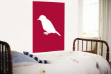 Red Bird Silhouette Wall Mural by  Avalisa