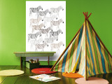 Zebra Pattern Wall Mural by Avalisa 