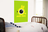 Green Bunny Eye Wall Mural by Avalisa 