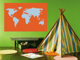 Orange World Wall Mural by Avalisa