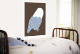 Blue Owl Wall Mural by  Avalisa