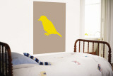 Brown Bird Silhouette Wall Mural by Avalisa 