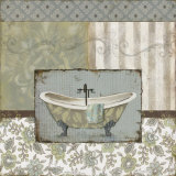 Country Style Bath I Prints by Carol Robinson