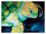 Timeless Wisdom, Hawaiian Sea Turtle Prints by Ari Vanderschoot
