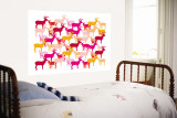 Warm Deer Pattern Wall Mural by Avalisa 