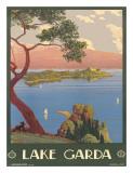 Lake Garda, Italy, c.1930 Giclee Print by Severino Tremator