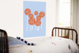 Blue Allium Wall Mural by  Avalisa