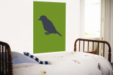 Greed Bird Silhouette Wall Mural by Avalisa 