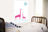 White Giraffe Wall Mural by  Avalisa