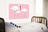 Pink Flamingo Wall Mural by Avalisa