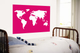 Pink World reproduction murale géante par  Avalisa