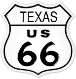 Route 66 Texas Tin Sign
