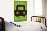 Green Auto Wall Mural by Avalisa 