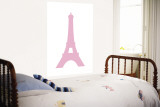 Pink Eiffel Tower Wall Mural by  Avalisa
