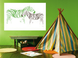 Green Zebra Wall Mural by  Avalisa