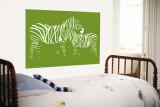 Green Zebra Poster géant par  Avalisa