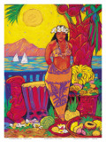 Hawaiian Seaside Market Posters by Rick Sharp