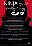 Ninja Tips for Healthy Living Carteles metálicos